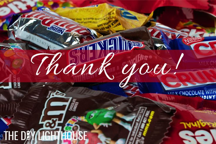 41 Ideas For Cute Ways To Say Thank You With Candy The O