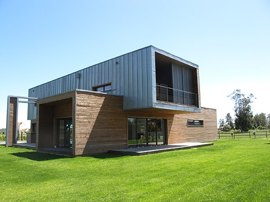 322 best Maison en bois images on Pinterest Small houses, Wooden - maison bois en kit toit plat