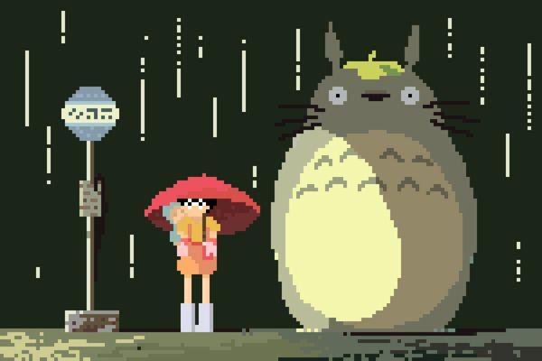 8-Bit Tribute To Studio Ghibli Movies