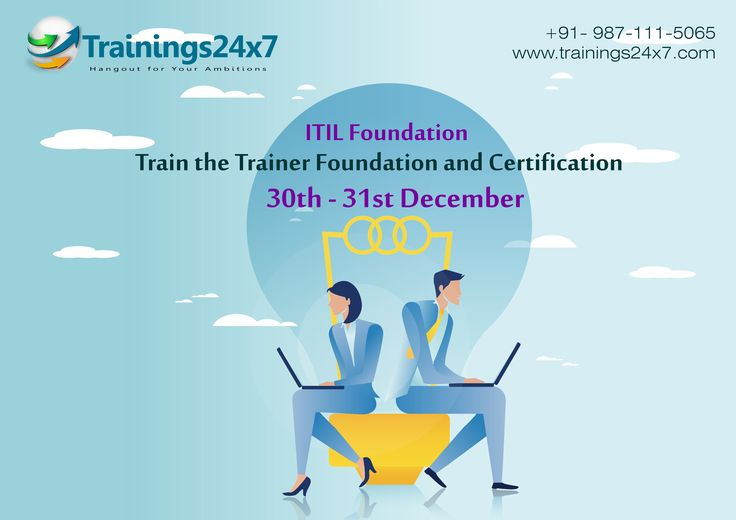 Happy New Year Celebration 2017  Trainings24x7 is providing ITIL certification on the old price 13200* in the last month of year 2016 On 30th & 31st Dec.  We focus To know you more about IT Service Management and do a job ready for you, in IT field.  Offer is valid across India.  Our Eligible Centre Located : 301 F-16,  Preet Vihar,New Delhi – 110092 Opp. PREET VIHAR METRO STATION  Contact US: 9871115065 Mail Us On : contact@trainings24x7.com