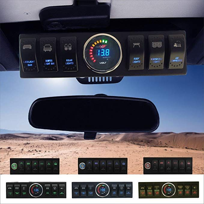 Apollointech Jeep Wrangler Jk Jku 2007 2018 Overhead 6 Switch Pod Panel With Control And Source System Blue Back Jeep Wrangler Jk Jeep Wrangler Wrangler Jk