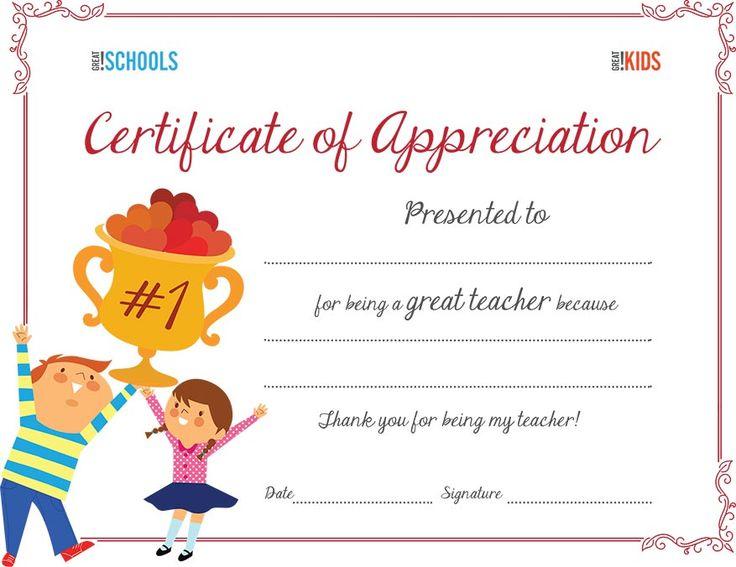 appreciation certificate teacher certificates award teachers templates sunday printable week parenting favorite greatschools awards template students parents preschool being printables