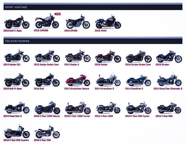 Yamaha Motorsports USA - Sport Heritage, Cruiser/Touring.    https://yamahamotorsports.com/street-motorcycle/models/lineup/street-motorcycle