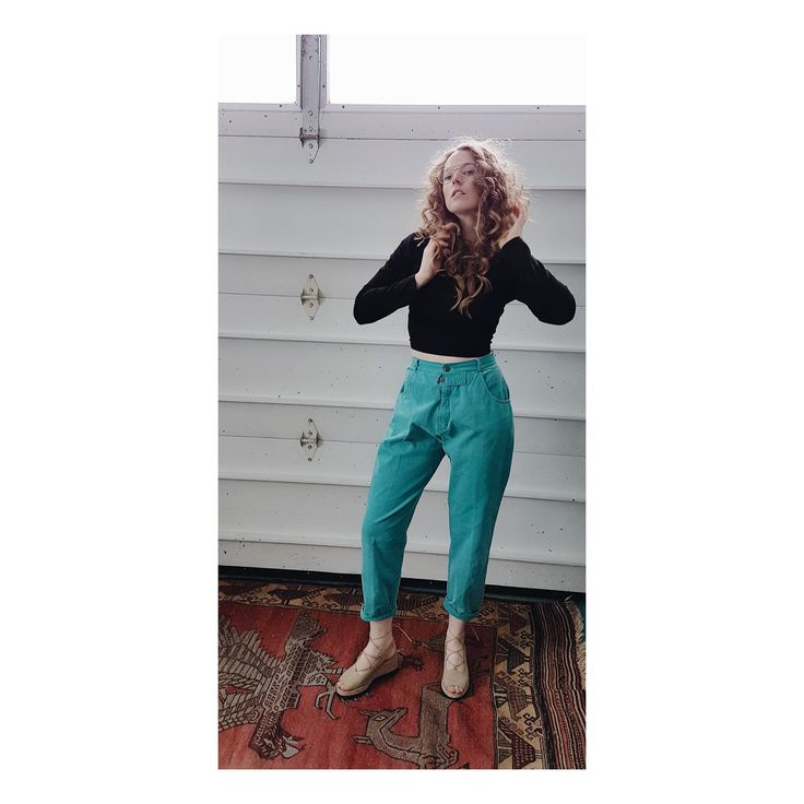 Vintage* High Waisted Pleated Cotton Trousers Slacks Pants Trapered by itsMagari on Etsy