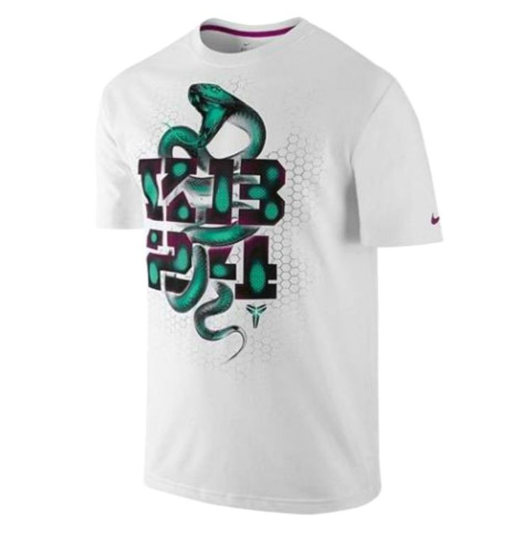 Nike Kobe KB24 Mamba Vision T Shirt 579549 Medium White Raspberry Red