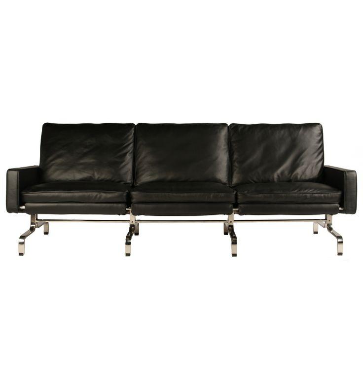 Replica Poul Kjaerholm PK31 3 Seater Sofa by Poul Kjaerholm - Matt Blatt