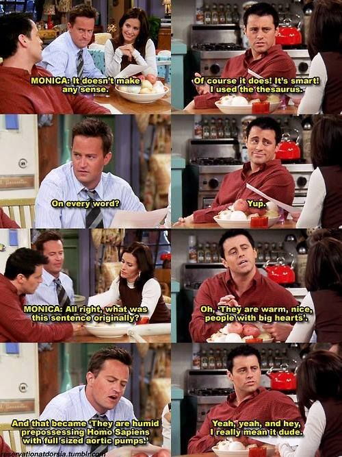 Friends - Joey uses the thesaurus.:
