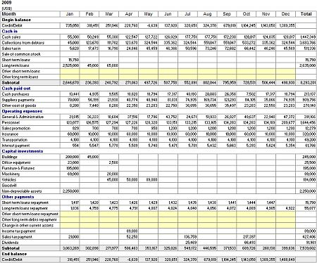 monthly cash flow statement - Google Search shoes Pinterest - components of income statement
