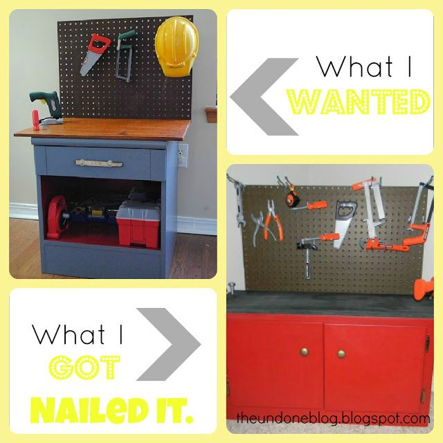 DIY Toddler Workbench {Practicing Pinterest}