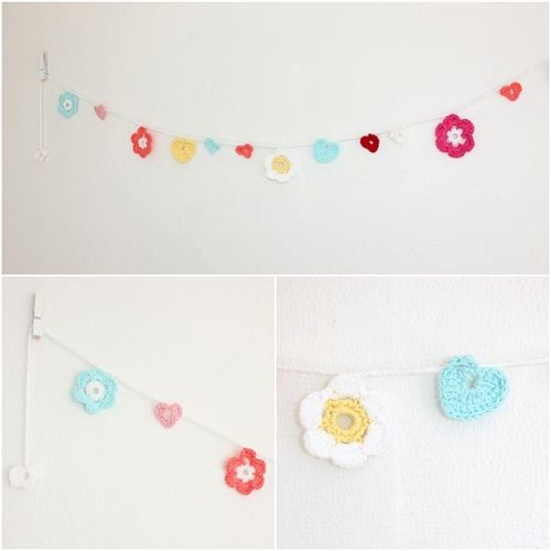 Spring pastel Colours   Crochet and Shabby Chic Home Accessories from Lisbeth Sin Lille Verden