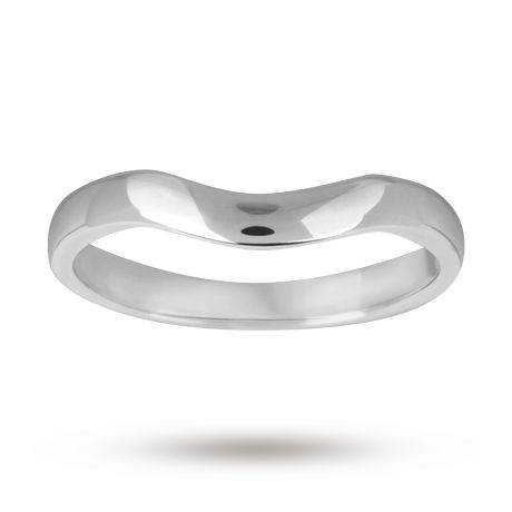2 5mm shaped wedding ring in 18 carat white gold