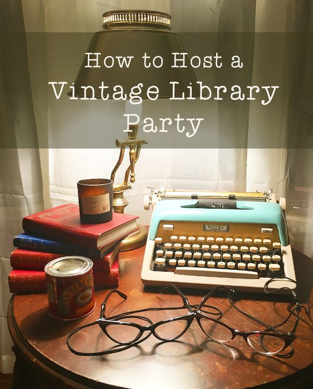 Host your very own vintage library party with our how-to guide.