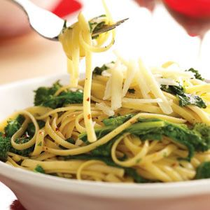 """Broccoli Rabe & Garlic Pasta...another one of Grandma's """"Depression meals"""" could live off of this...and escarole and beans of course! Prefer this without the sausage!"""
