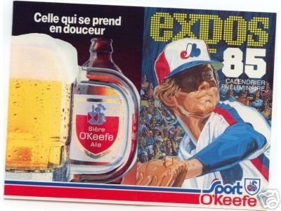 Nice poster! #beer and the Montréal #Expos - 1985.