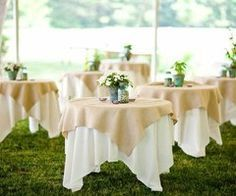 Natural Burlap, Jute Overlay, Rustic Wedding Tablecloth, Burlap Squares, 90 x 90, 72 x 72, Cake Table, Spring Wedding, Barn Wedding by DinDinDecor on Etsy https://www.etsy.com/listing/211323694/natural-burlap-jute-overlay-rustic