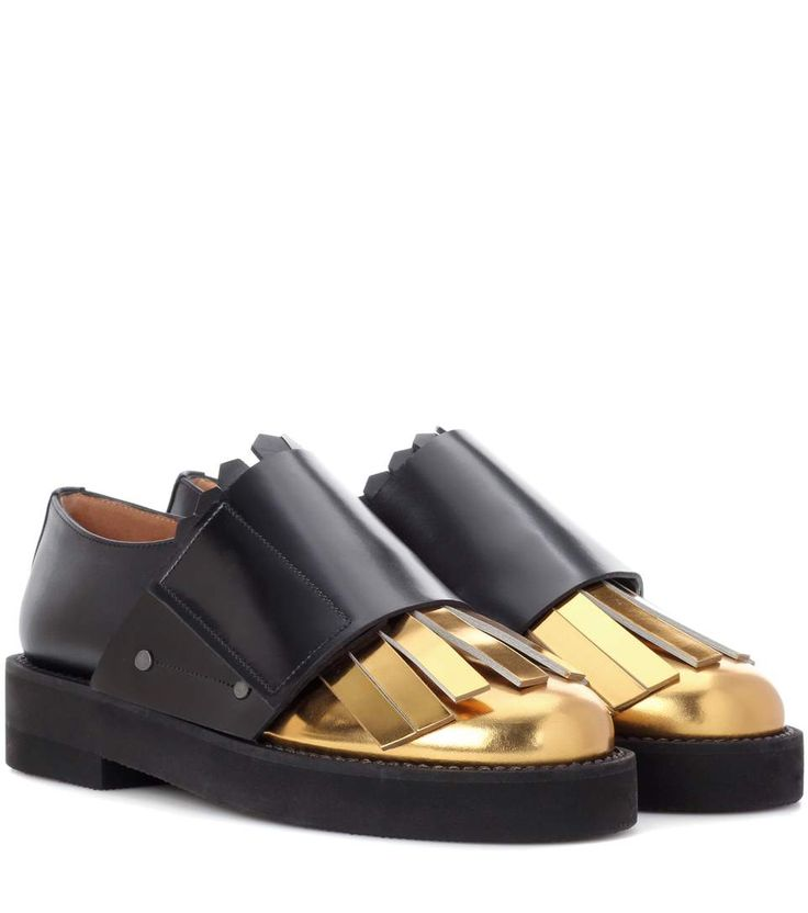 MARNI Metallic leather and leather monk shoes. #marni #shoes #flats