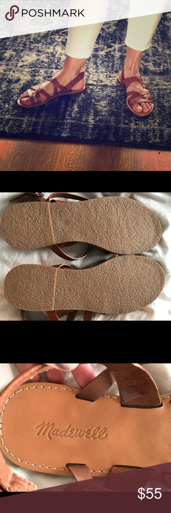 Madewell Tan Leather Sandals Size 8 - NEW! Brand new Madewell sandals - tags off, never worn Madewell Shoes Sandals