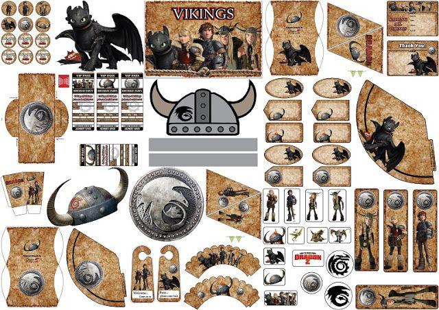 Cómo Entrenar a tu Dragón 2; Kit para Imprimir Gratis.