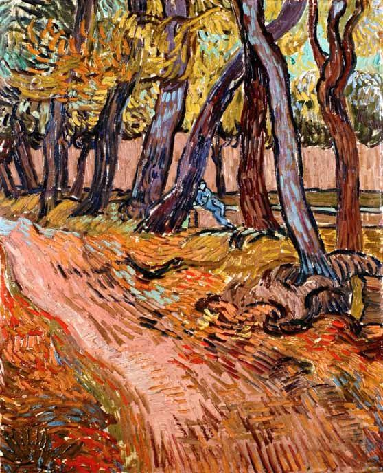 Vincent Van Gogh - Post Impressionism - Saint REMY - Sentier dans le jardin de l'asile