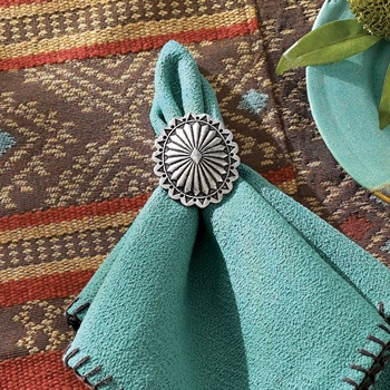 -Southwestern Placemats, Napkins, Leather Napkin...