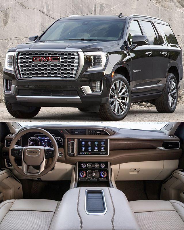 Gmc Yukon Denali 2021 Nova Geração Do Suv De Grande Porte Americano Pode Vir Equipada Com O Novo 6 2l V8 Com Gere Super Luxury Cars Luxury Cars Bmw Gmc Trucks
