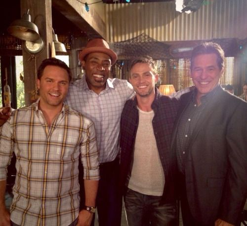 Wilson Bethel, Scott Porter, Tim Matheson and Cress Williams