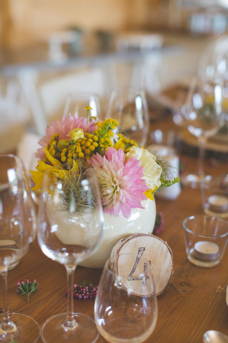 Wedding table details.