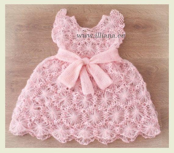 Crochet Pattern Kid Mochair Dress No 56 ♥ by Illiana on Etsy, $4.90