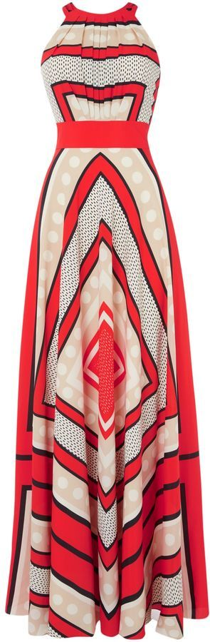Eliza J Halter neck maxi dress