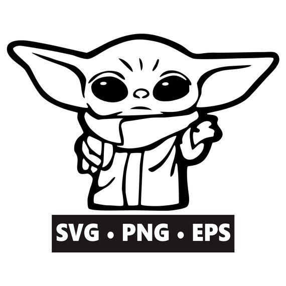 Baby Yoda Svg Instant Download Digital Download Baby Yoda Etsy In 2021 Star Wars Stencil Custom Vinyl Stickers Yoda Decals