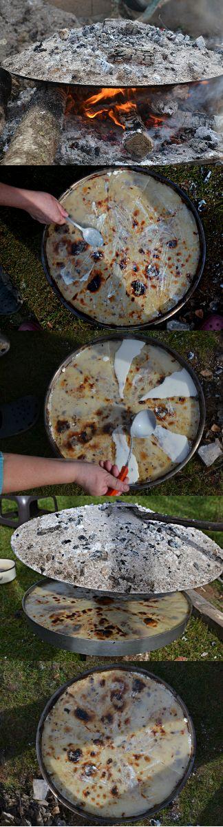 Flia (in Albanian language): Traditional dish from Balkans.  Ingredients: Flour, yogurt, butter, milk cream, salt.
