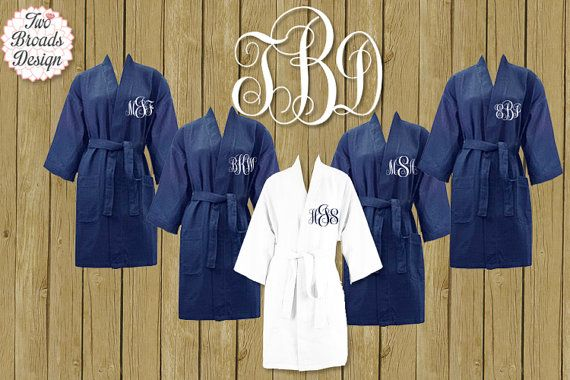 Spa Waffle Robes FREE ROBE Set of 7 or MORE  by twobroadsdesign