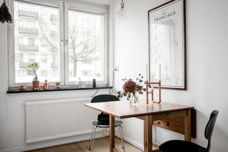 mesas extensibles estilo nórdico y escandianvo espacio amplitud minipisos decoración pisos pequeños decoración ligera decoración funcional decoración dormitorios pequeños cocinas nórdicas pequeñas blog decoración nórdica