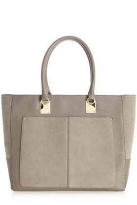 Grey Two Tone Shopper / Warehouse