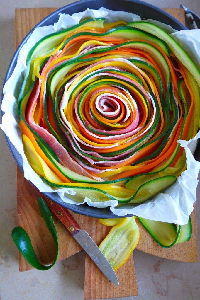 Tarte aux légumes de printemps ….Un dimanche à la campagne