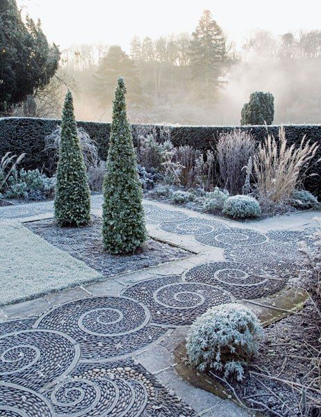 Arabella Lennox-Boyd garden! Winter in the garden!