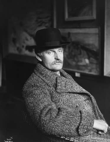 Edvard Munch (1863-1944) - Norwegian painter and printmaker. Photo by Anders Beer Wilse