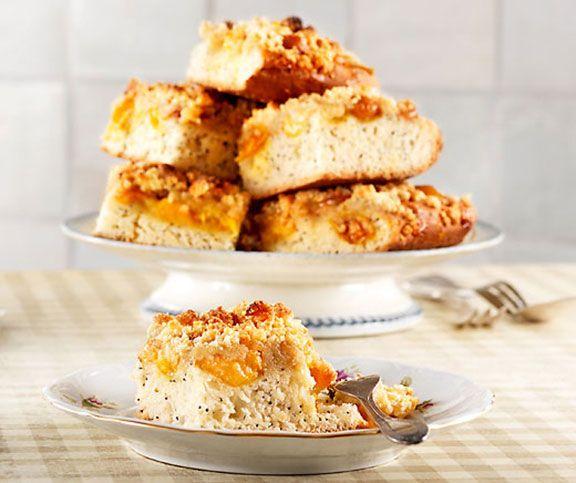 Mirabellen-Blechkuchen mit Mohn