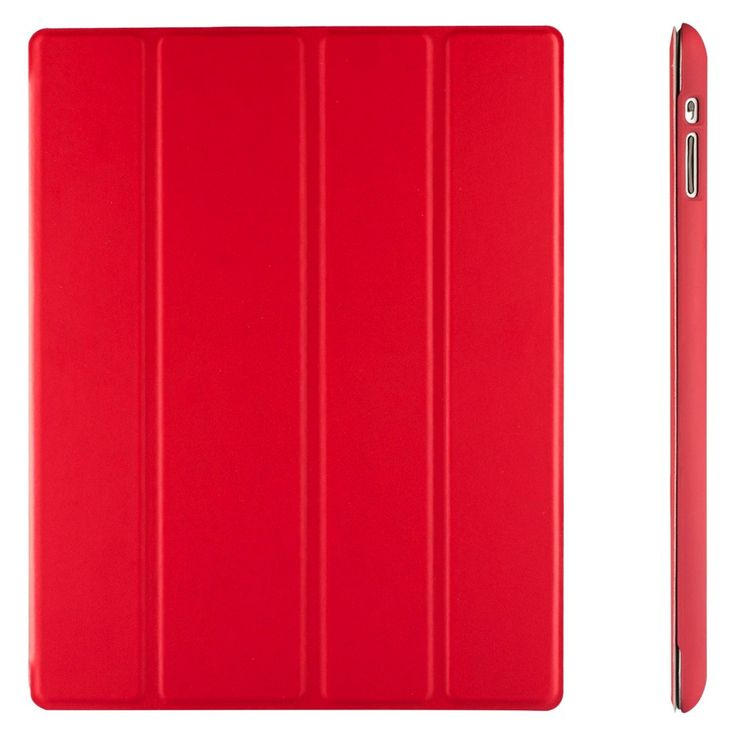 SuprJETech Gold Slim-Fit Folio Smart Case Cover with Back Case for Apple iPad 2, 3 and 4 with Retina Display - Red