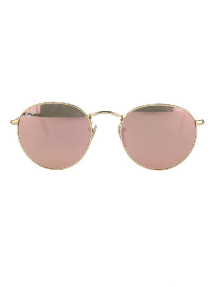 071f5500b Óculos Ray-Ban Round Metal Rosê RB 3447 original. Possui formato redondo,  lentes
