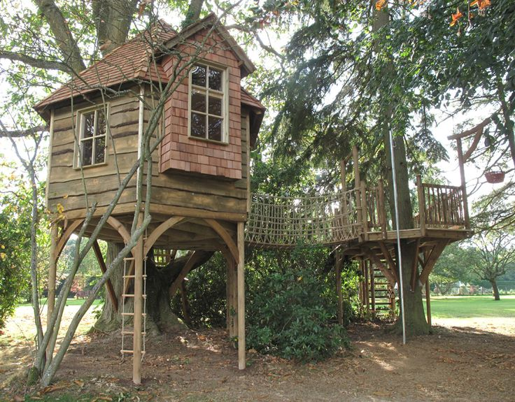 Over 1000 id er om huse i tr er p pinterest tr huse - Tree house plans for adults ...