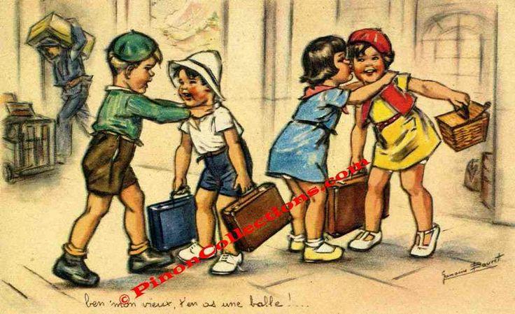 """BOURET Germaine - """"Ben' mon vieux, t'en as une balle!..."""" - Comité national des colonies de vacances - Pinoncollections.com"""