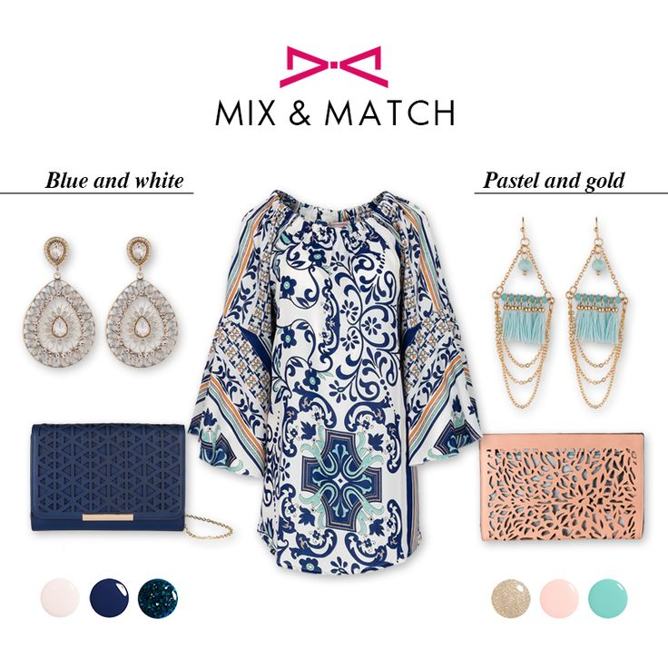 *Boho glam | From morning to evening* Mix and match pastel colors with gold details or navy blue with white for a chic touch at your boho look.