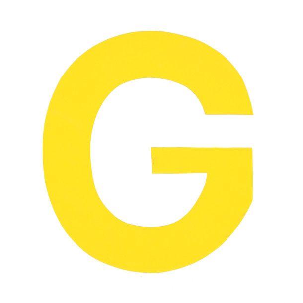 Enamel Letter G Yellow