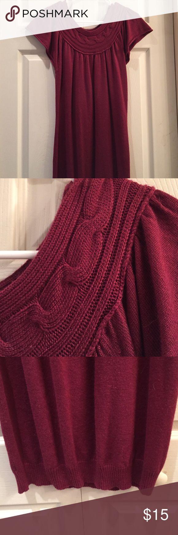 Sweater dress Burgundy sweater dress. Worn minimally Dresses Midi