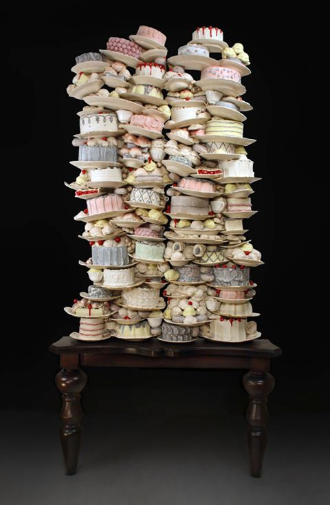 Gluttony Dirk Staschke Award winning Canadian ceramicist Dirk Staschke creates amazingly realistic sculptures of cakes and pastries.