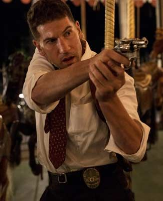 """You never have to worry about me,"" says Jon Bernthal of ""Mob City"" after the scene is done, ""as far as getting beat up and all that stuff. I can handle it. The acting -- I don't know."""