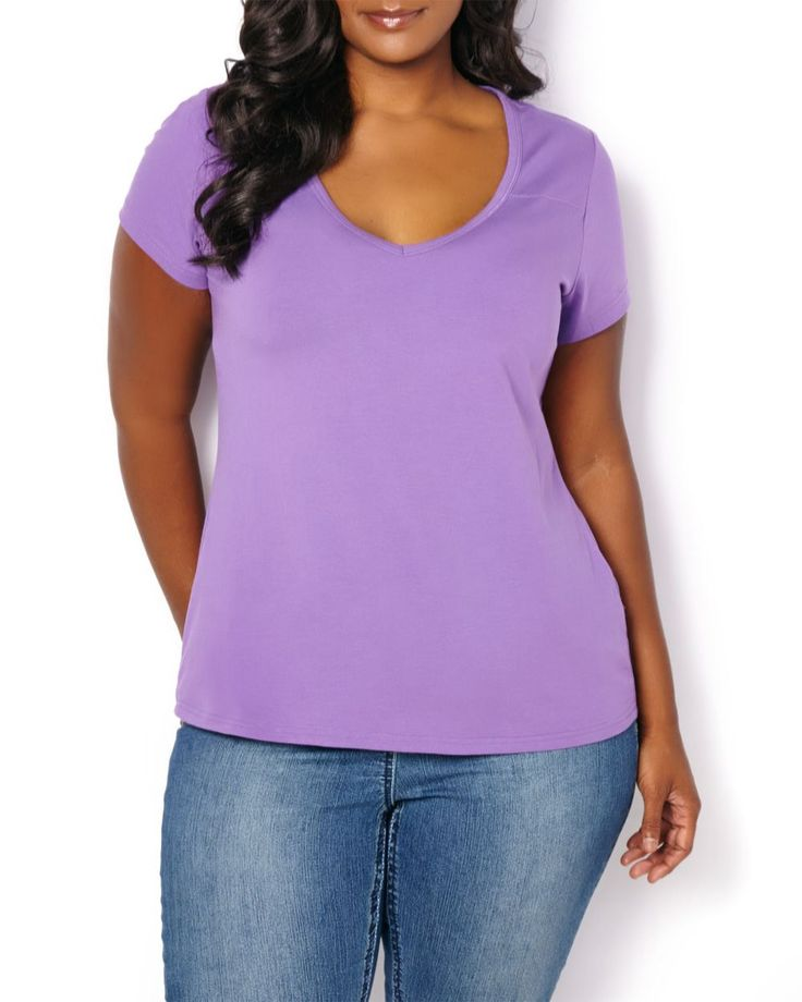 Form Fit V Neck T Shirt Penningtons Clothes And Bags