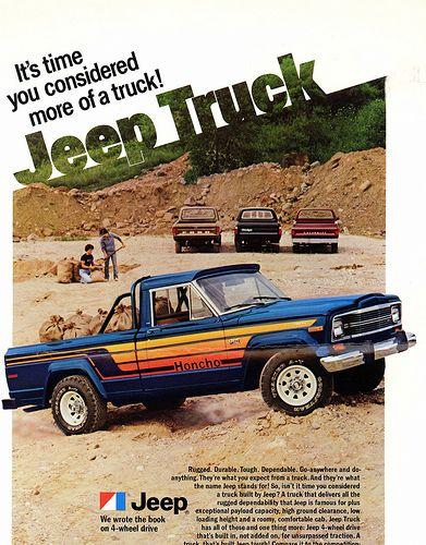 1980 Jeep Honcho Truck Advertisement