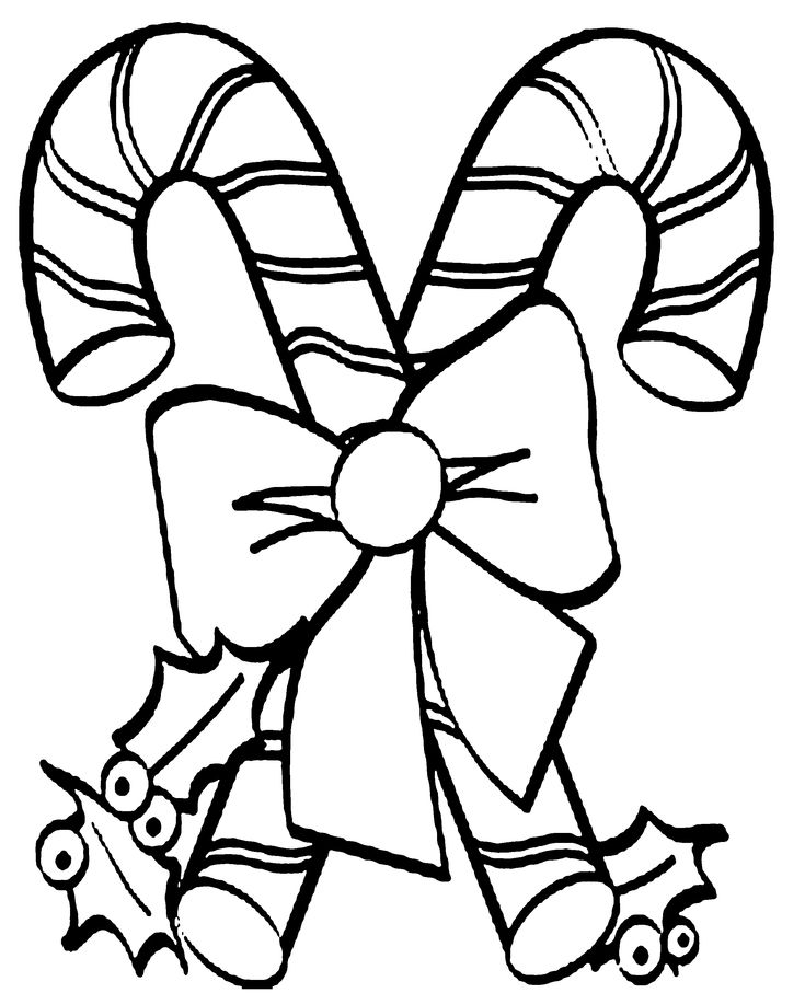 candy cane ornaments coloring pages - photo#16